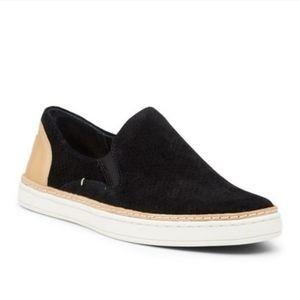 Ugg Adley black tan suede slip on shoes sz 8.5